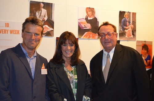 Patrick Neale, Gail Rebuck and Maurice Saatchi