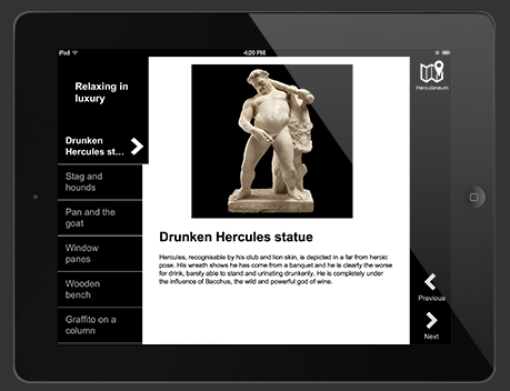 The Natural History Museum's Pompeii app adds depth to the exhibition.