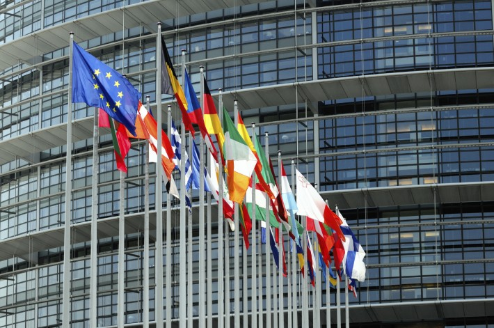 Ebook taxation Flags of the European Union in Strasbourg. Image - iStockphoto: Adrian Hancu European taxing of ebooks
