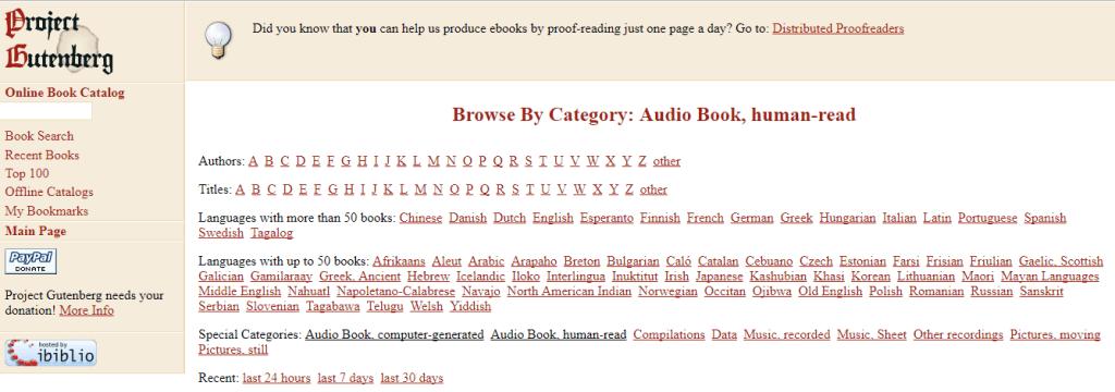 Audiobook Malaysia - Project Gutenberg