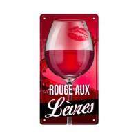 """Plaque métal décorative""""Rouge aux lèvres"""""""