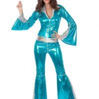 Déguisement disco turquoise femme