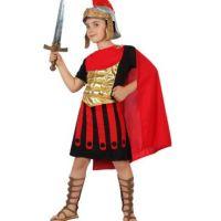 déguisement gladiateur rouge et or