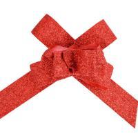 Mini nœud automatique pailleté rouge x10