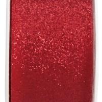 Ruban pailleté 30mm x5m rouge