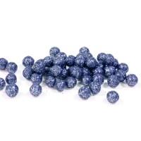 Mini boule pailletée bleu