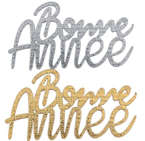 Confetti bois Bonne Année or et argent