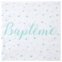 Serviette Baptême Menthe
