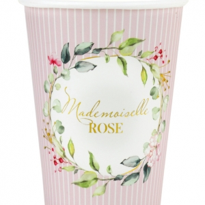 Gobelet Mademoiselle ROSE x10