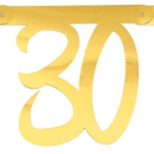 Banderole âge métal 30ans