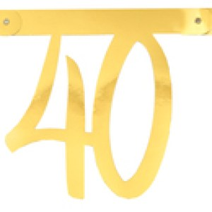 Banderole âge métal 40ans