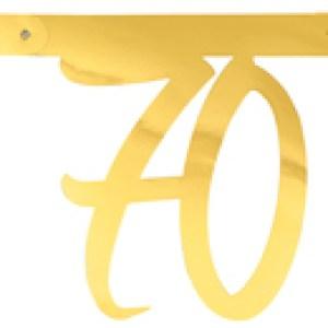 Banderole âge métal 70ans