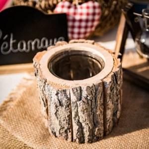 Bougeoir rondin de bois