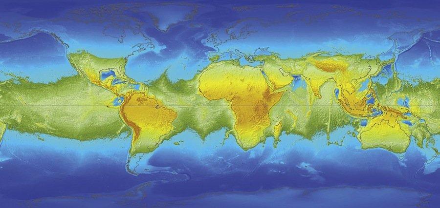 какую часть поверхности земли занимает вода