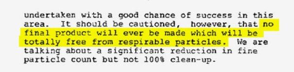 Dyrektor ds. Badań w J&J, DeWitt Petterson, ostrzegł firmę, że produkcja czystego talku jest niemożliwa.