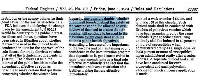 FDA Federal Register - 1 czerwca 1984