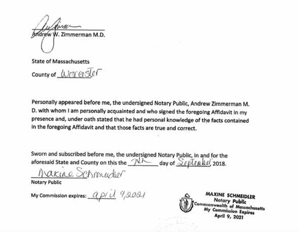 Oświadczenie dr Andrew Zimmermana-