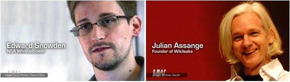 Edward Snowden i Julian Assange