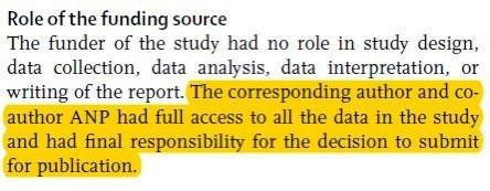 Odpowiedni autor i współautor ANP mieli pełny dostęp do wszystkich danych