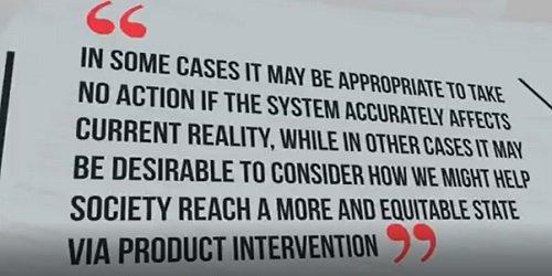 można pomóc społeczeństwu osiągnąć bardziej sprawiedliwy i słuszny stan poprzez możliwą ingerencję w produkt