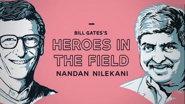 Bill Gates i Nandan Nilekani