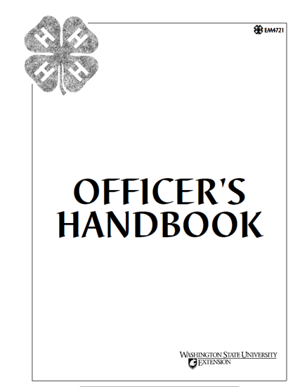 WSU Extension Publications|Officer's Handbook
