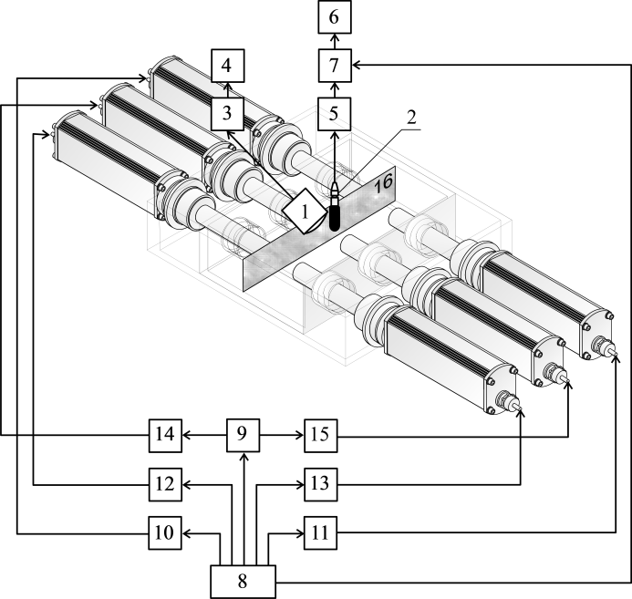 Figure 6. General view and schematic diagram of the
