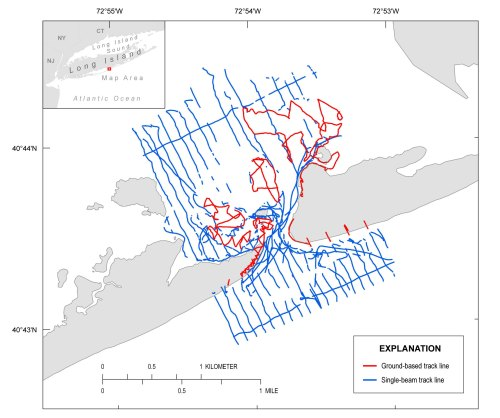 small resolution of overview of the wilderness breach single beam and gps track line surveyed october 2014