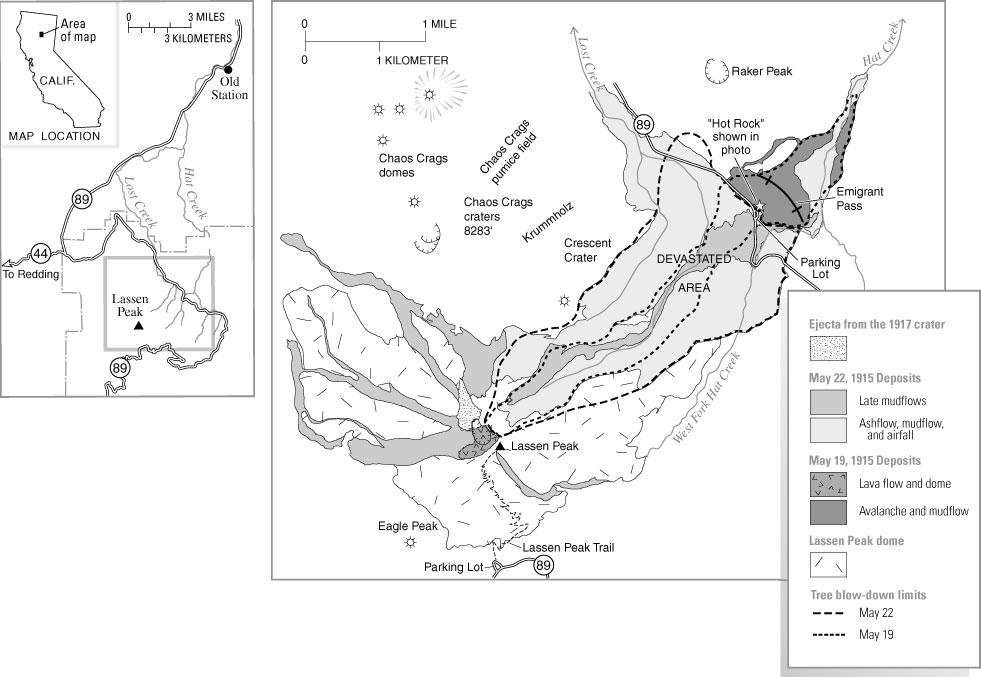 Eruptions of Lassen Peak, California, 1914 to 1917, USGS