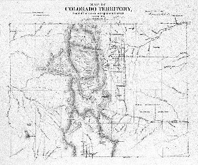 Historic Trail Map of the Leadville 1° × 2° Quadrangle