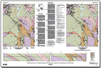 USGS Scientific Investigations Map 3295: Bedrock Geologic ...
