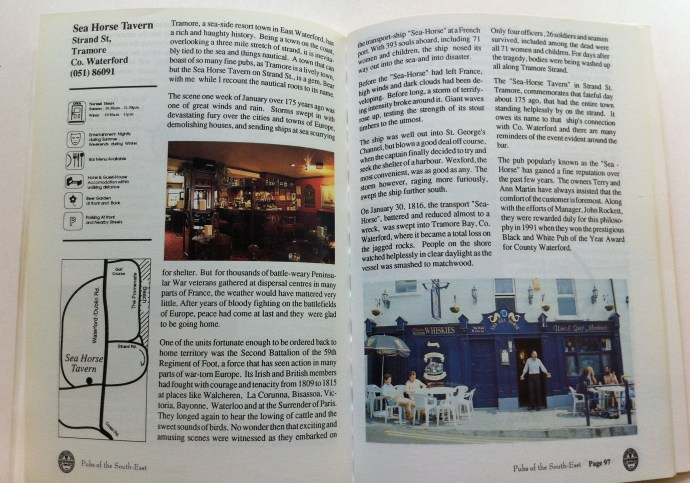 Pages featuring the Tramore, Co. Waterford pub, The Sea Horse Tavern