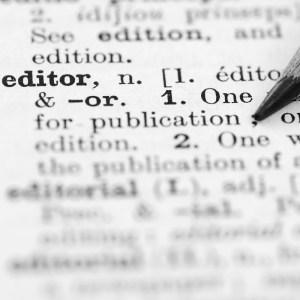 Publications Professionals services: Editing