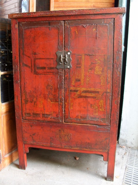 Armoire Ancienne Chinoise Origine Shanxi Puces DOc