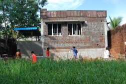 Backview of the Anganwadi! It's gotten so big!