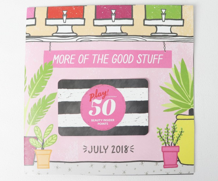 Play by Sephora July 2018 50 Beauty Insider Points