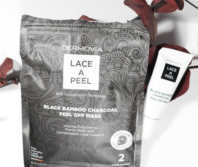 Dermovia Lace A Peel Black Bamboo Charcoal Peel Off Mask