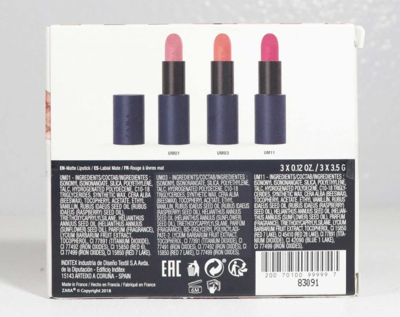 Zara Ultimatte Trio Lipstick