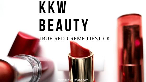 KKW Beauty True Red Creme Lipstick