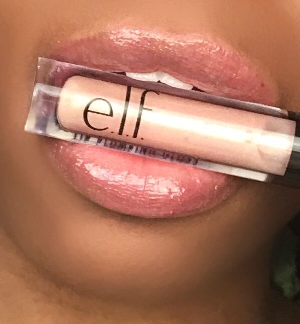 elf lip plumping lip gloss in Champagne Glam