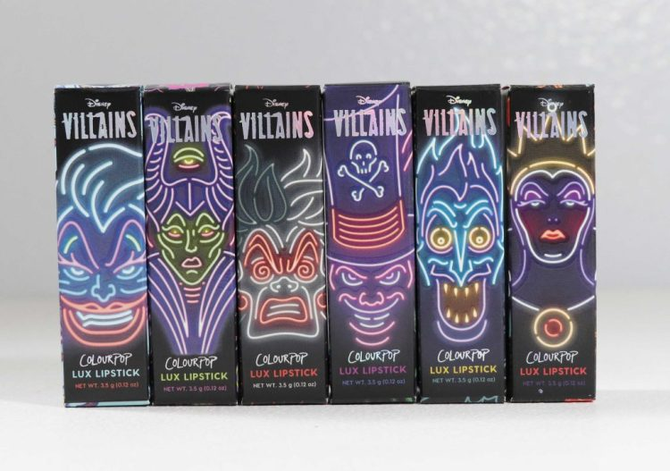 Disney X Colourpop Villain Lux Lipsticks