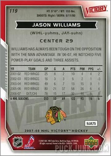 2007-08 Victory #119 - Jason Williams (back)