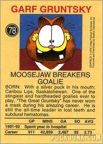 Garfield Hockey Card