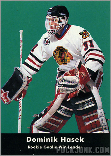 1991-92 Parkhurst #449 - Dominik Hasek / Rookie Leaders