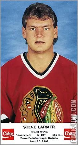 1986-87 Chicago Blackhawks - Stever Larmer