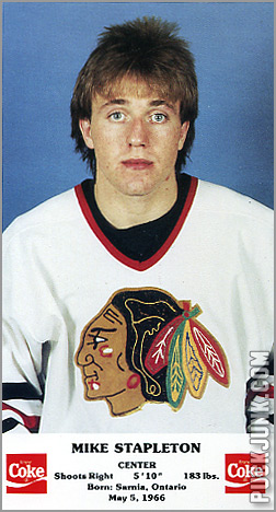 1986-87 Chicago Blackhawks - Mike Stapleton