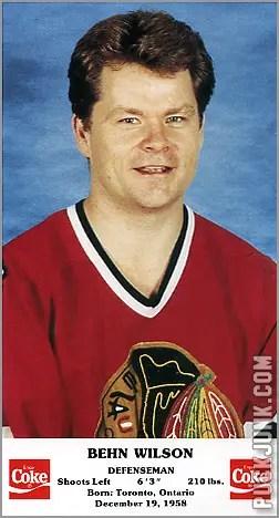 1986-87 Chicago Blackhawks - Behn Wilson