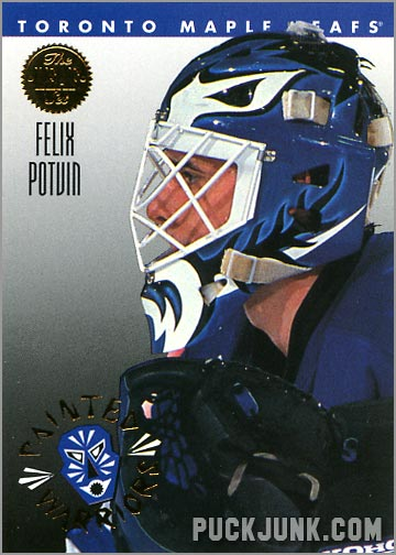 1992-93 Leaf Painted Warriors Felix Potvin