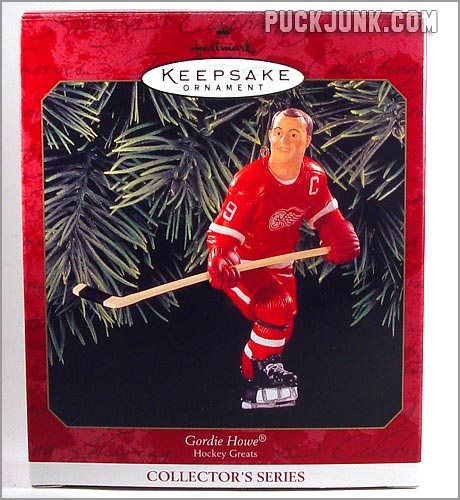 1999 Gordie Howe Ornament - box front