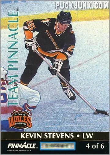 1992-93 Team Pinnacle Kevin Stevens